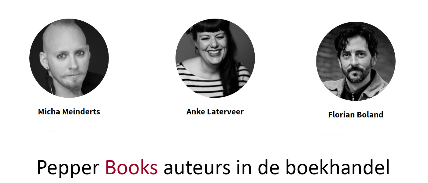 Pepper Books auteurs draaien mee in de boekhandel