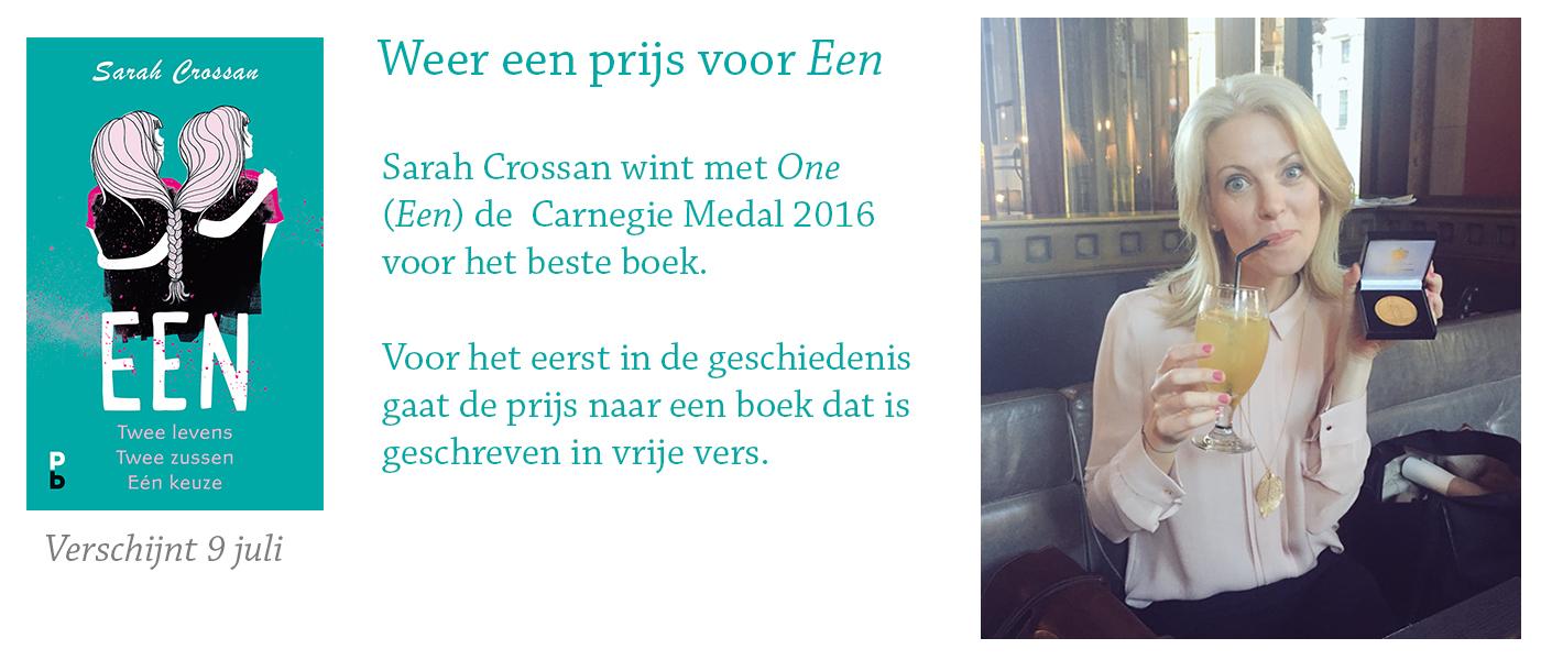 Sarah Crossan wint Carnegie medal voor Een